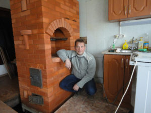 Кладка отопительно варочной печи для частного дома мастером